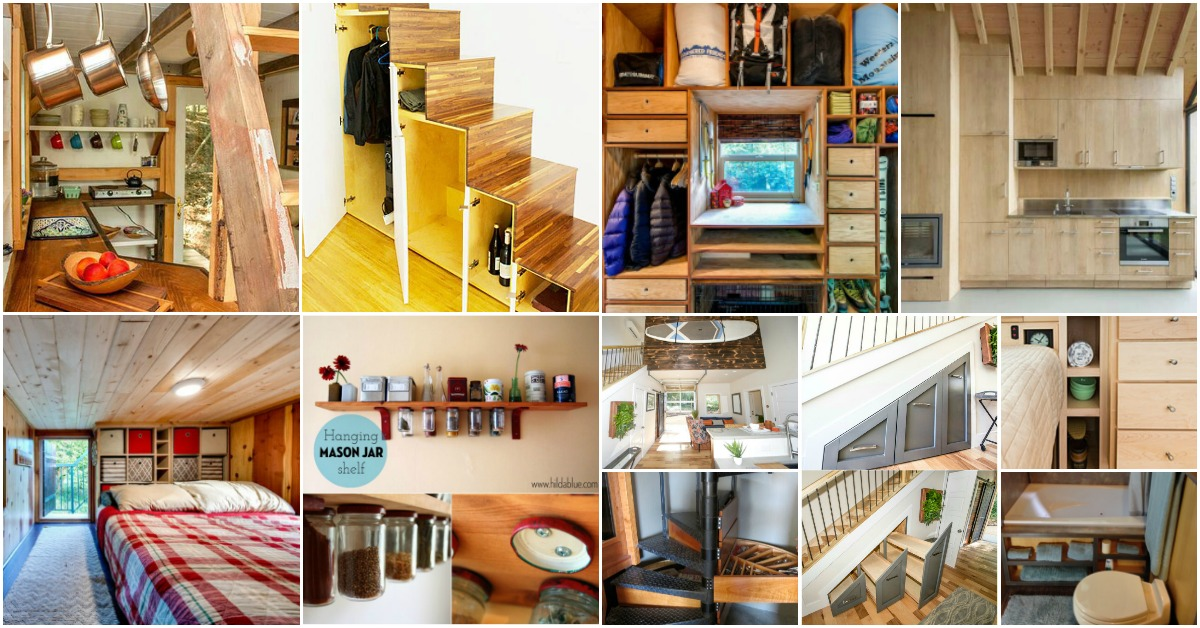 40 tiny house storage and organizing ideas for the entire for Small house organization tips