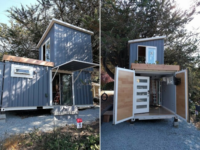 520sf boxed haus puts a new spin on container homes tiny for Smart haus container