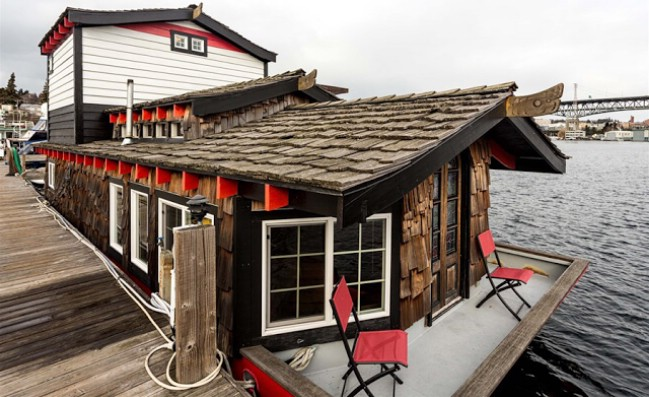 Photos Tiny House Seattle Wa: Asian Inspired Houseboat For Sale At Seattle Harbor