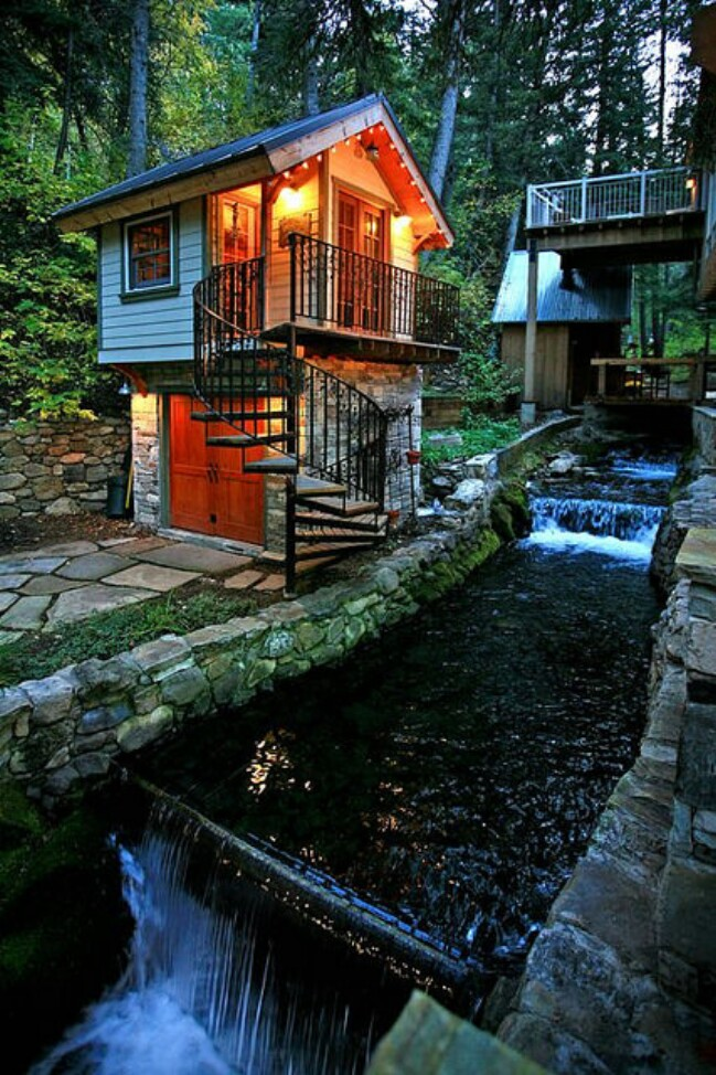 Experience sundance while staying in a storybook stone for Small footprint cabin