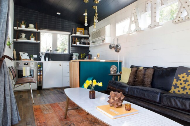 designer kim lewis helps create eclectic tiny house in austin