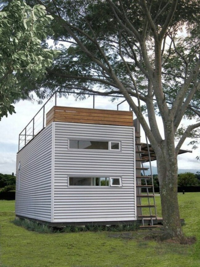 Shipping Container Tiny House Beautifully Upcycled Shipping