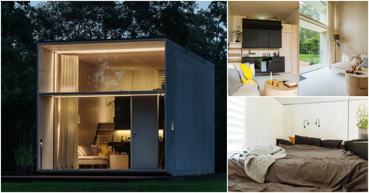 Tiny Home Designs: Estonian Design Team Built KODA: A Moveable Concrete Tiny