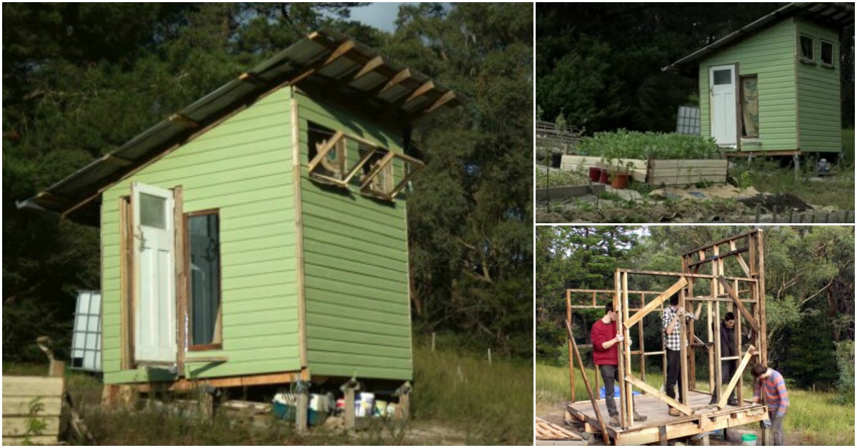 couple builds tiny house using recycled materials and only On recycled tiny house