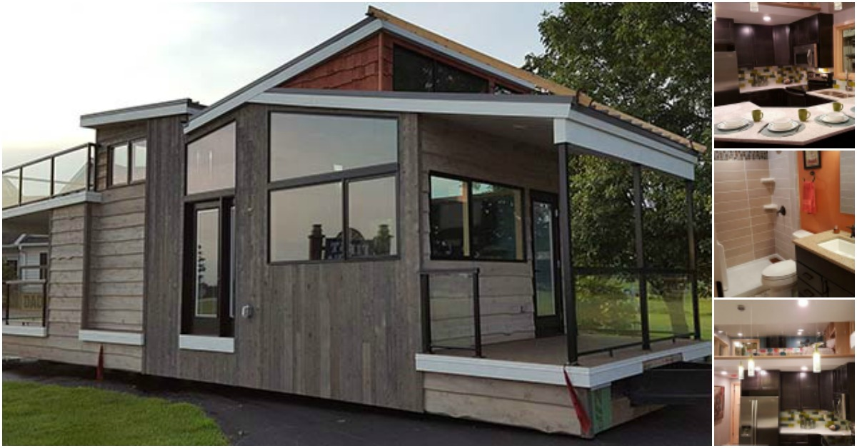 Luxurious modern 400sf tiny home in wisconsin by utopian for Contemporary home builders wisconsin
