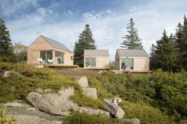 Trio of Modern Tiny Houses in Maine