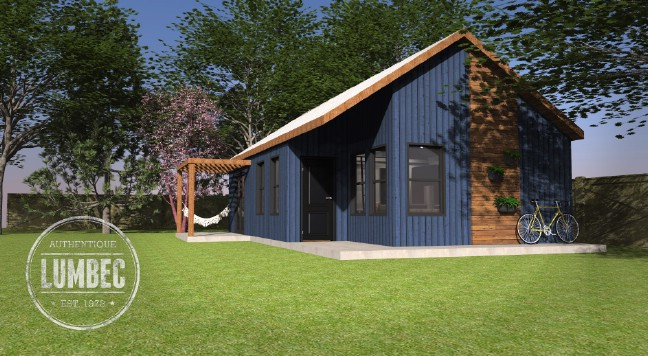 Canadian company releases new design of 640sf azure tiny for Canadian kit homes