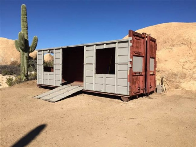 Arizona couple turns dumpster into tiny vacation home