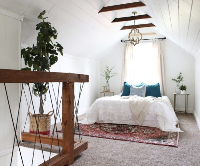 Tired home transformation into cute cottage