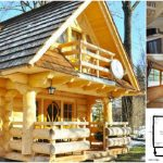 Lovely 296Sf Handmade Tiny Log House by The Little Log House Company