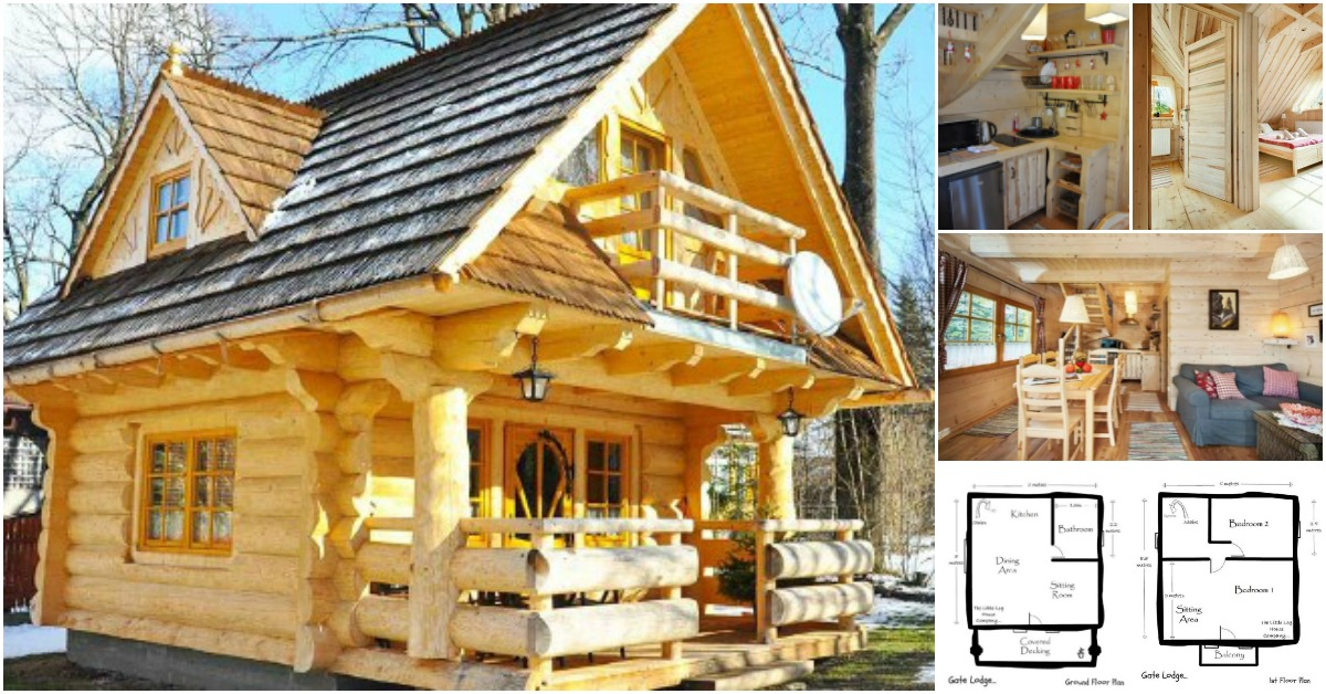 lovely 296sf handmade tiny log house by the little log house company tiny houses. Black Bedroom Furniture Sets. Home Design Ideas