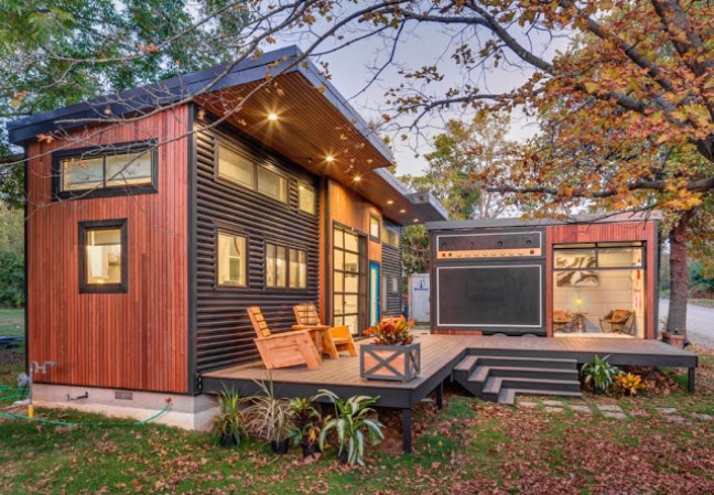 The amplified tiny house is a 400 square foot cozy for 400 sq ft home