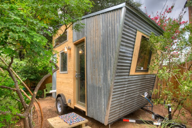 Austin tx woman designs funky tiny house to rent out