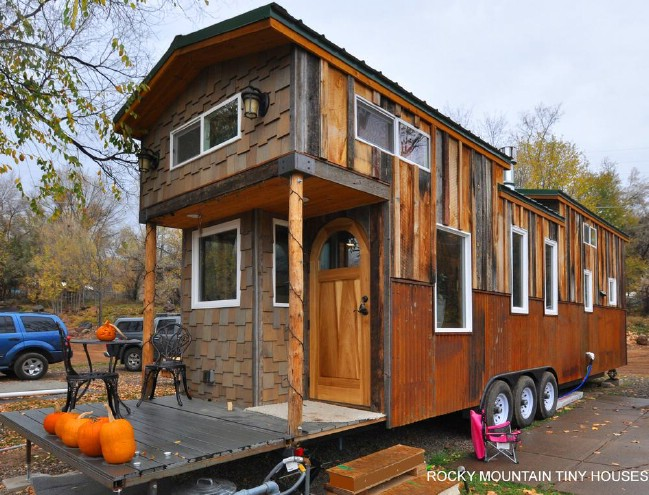 Largest Tiny House his extra long loft can accommodate three sleepers and an additional downstairs bedroom can sleep two more lincoln is the largest tiny house rv being Red Mountain Tiny House Tour