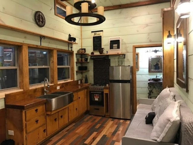 Modern and Rustic 320sf Tiny House by Incredible Tiny Homes for Sale