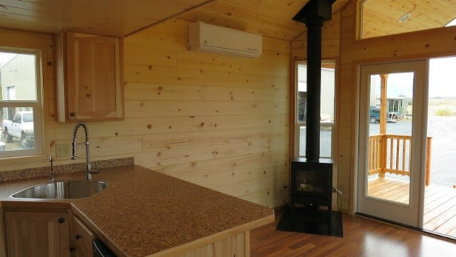 Spread Out in the Double Lofted Tiny House by Rich's Portable Cabins
