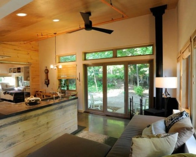 tiny house vermont. thrifty vermont family rent main house and live in tiny