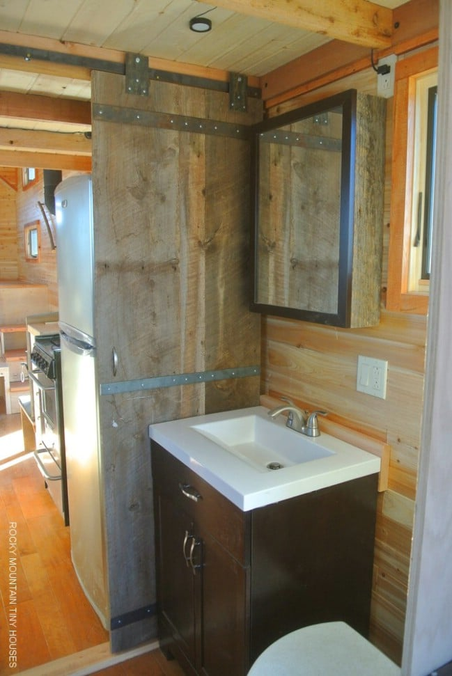 A River Runs Through This 32' Long Tiny House by Rocky Mountain Tiny Houses