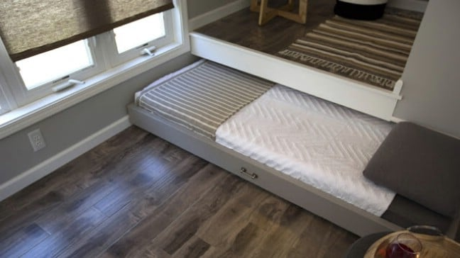 Tiny House Roll Out Bed