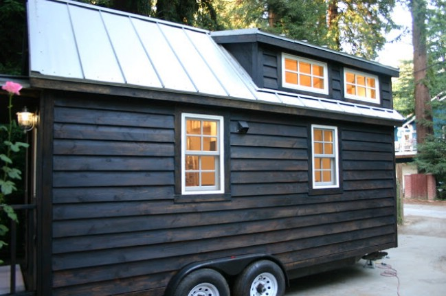 This Charred Tiny House by Molecule Tiny Homes is Warm and Cozy