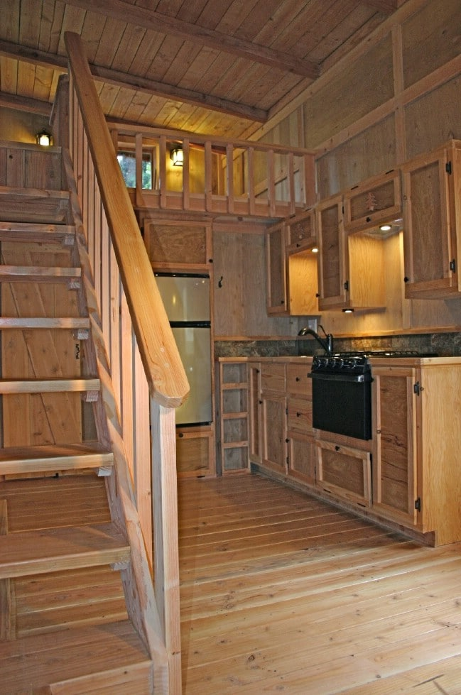 Tiny Home Designs: Check Out The Deck On The Hunter Green Cabin By Molecule