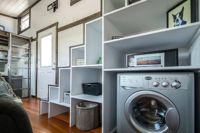 Do you need a tiny home and office space on wheels look for Tiny house washer dryer