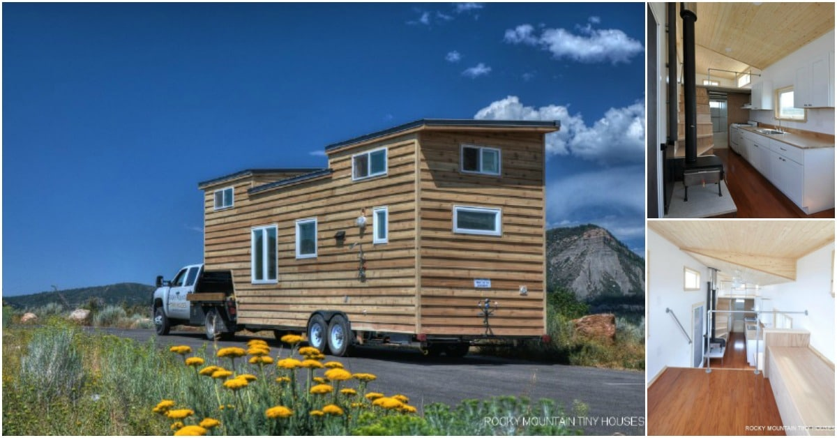 Father and son hit the road in the ostego gooseneck from for Tiny mountain homes