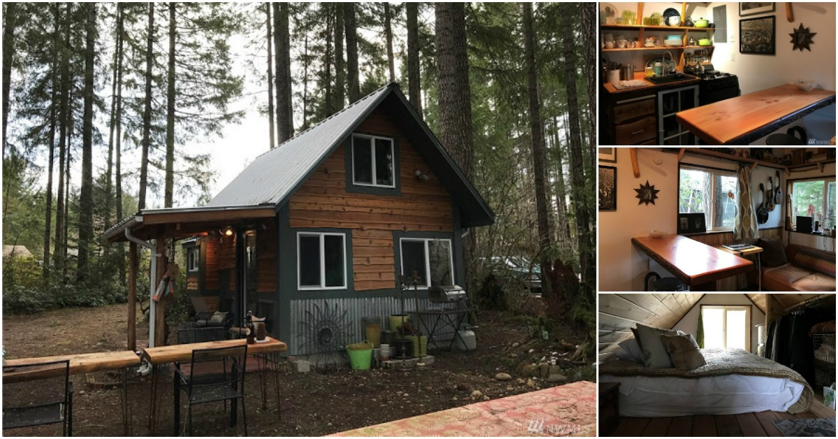 Adorably Charming Tiny Cabin For Sale In Olympic National