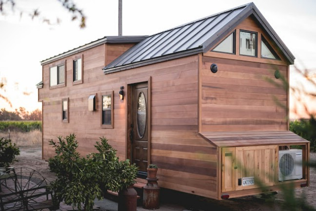 Home On Wheels california tiny house designs and builds a rustic 28ft home on