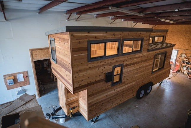 california tiny house builder creates wooden beauty on 24ft trailer - Tiny House Builder