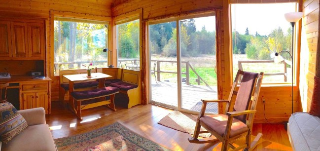 "Cozy 400sf Tiny Cabin Called the ""Pond Cottage"" Embraces Beauty of Nature in Washington"