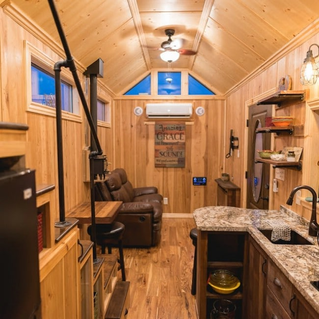 California Tiny House Designs And Builds A Rustic 28ft Home On Wheels Tiny Houses