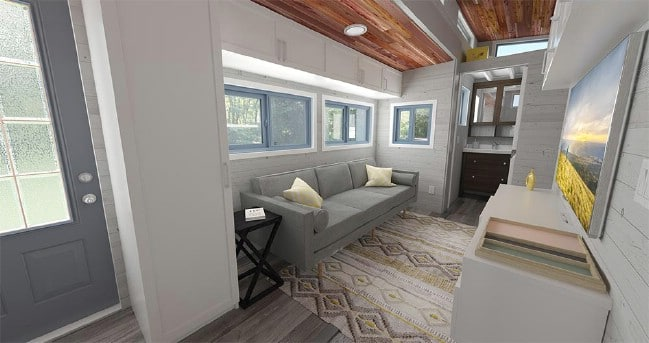 Looking For A Wide And Single Level Tiny House On Wheels? We Found It