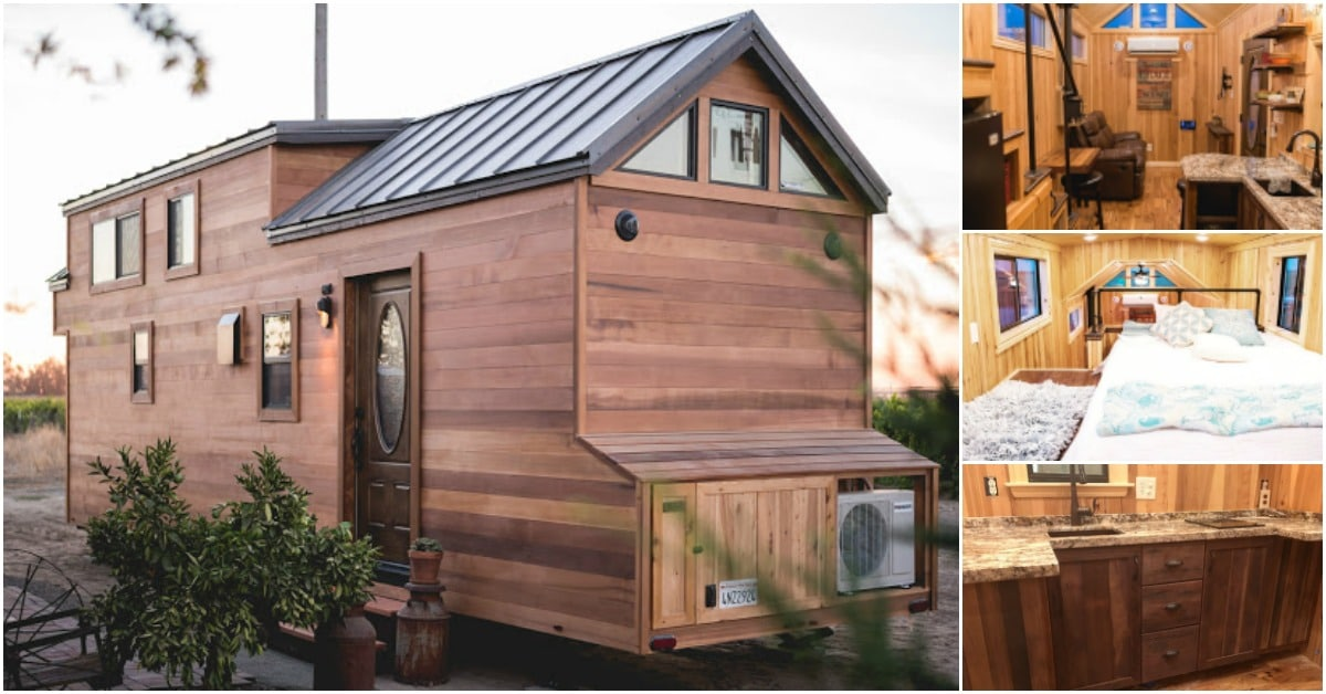 California Tiny House Designs and Builds a Rustic 28ft
