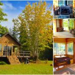 """Cozy 400sf Tiny Cabin Called the """"Pond Cottage"""" Embraces Beauty of Nature in Washington"""