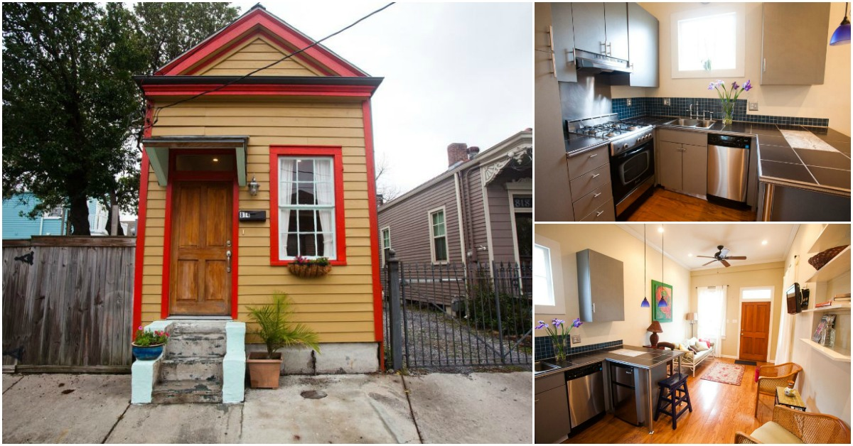 400sf shotgun tiny house for rent in new orleans tiny houses - 1 bedroom houses for rent in new orleans ...