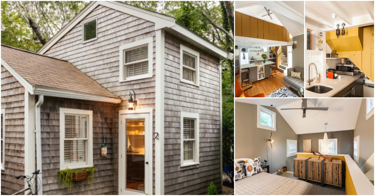 Tiny cape cod cottage packs luxury into small 350sf for Cape cod tiny house