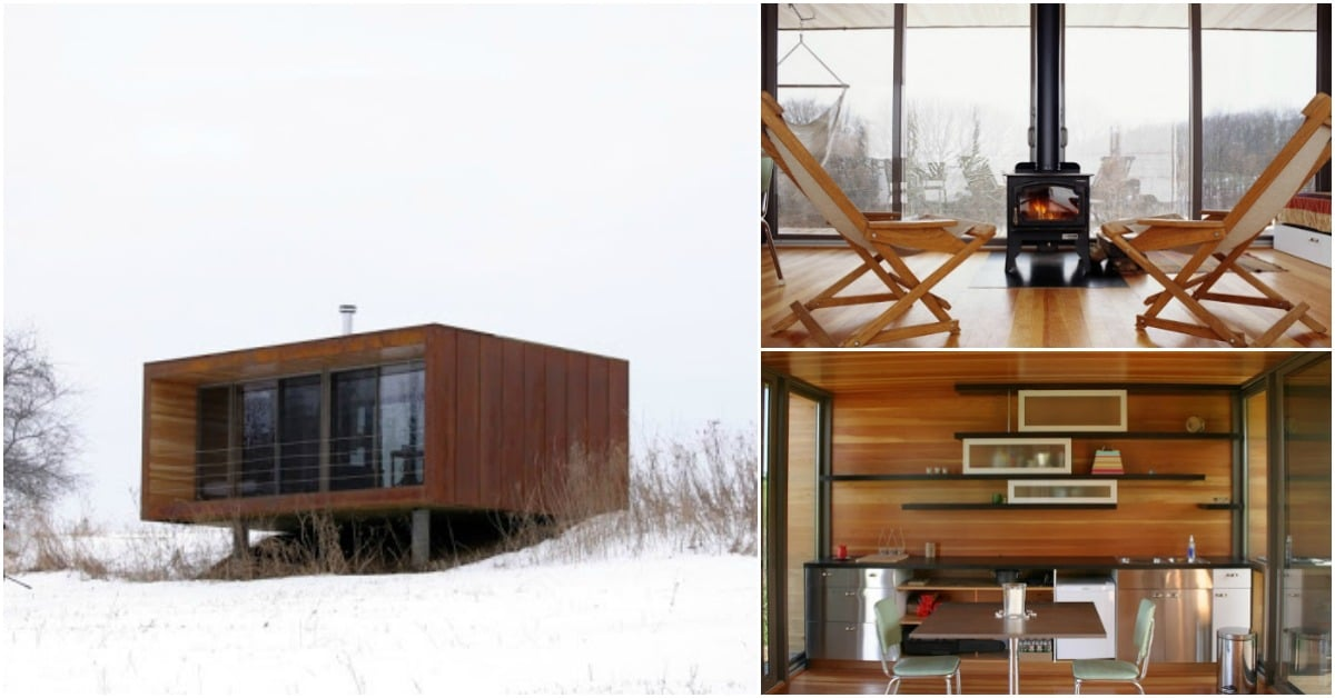 Tiny Home Designs: Violinist Builds 336sf Off-Grid Tiny House For Family Retreat In Pepin, Wisconsin
