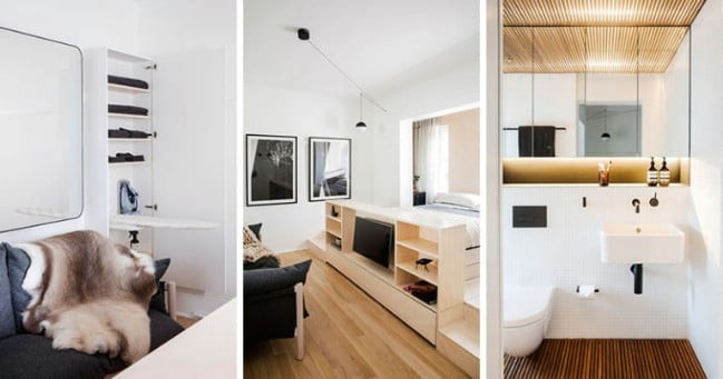 Contemporary tiny house rental in australia packs tons of for Tiny apartment solutions