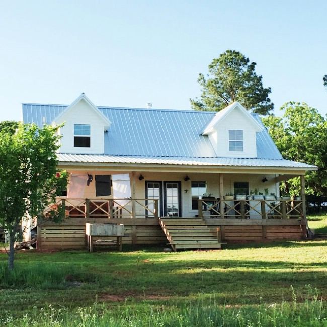 Oklahoma Couple Simplify Life 1000 Square Foot Farm House on Small Cabin Floor Plans