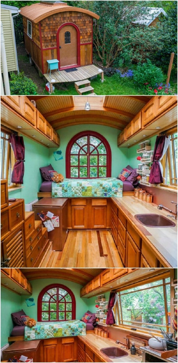 Lina Menard Had Always Imagined Living In A Tiny House, And Created The  Perfect Little Fairytale Home For Herself By Converting A Basic ...