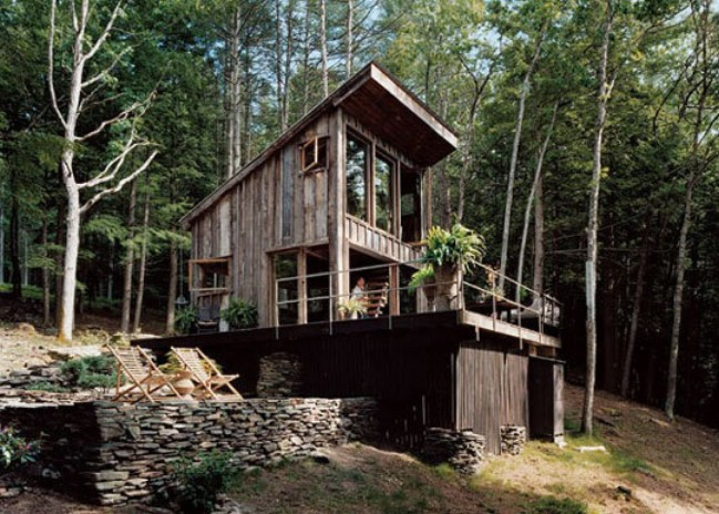 Off grid tiny house made from 100 year old reclaimed wood for Reclaimed wood new york