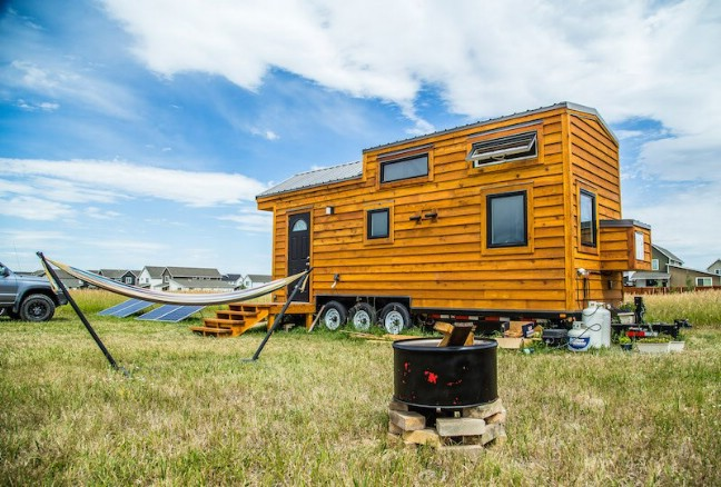 Beautifully Rustic Off-Grid 280 Square Foot Tiny House for Sale in Montana