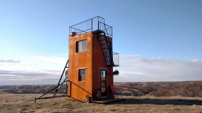 The Tilting Tower Tiny House That Can Be Pulled by Your