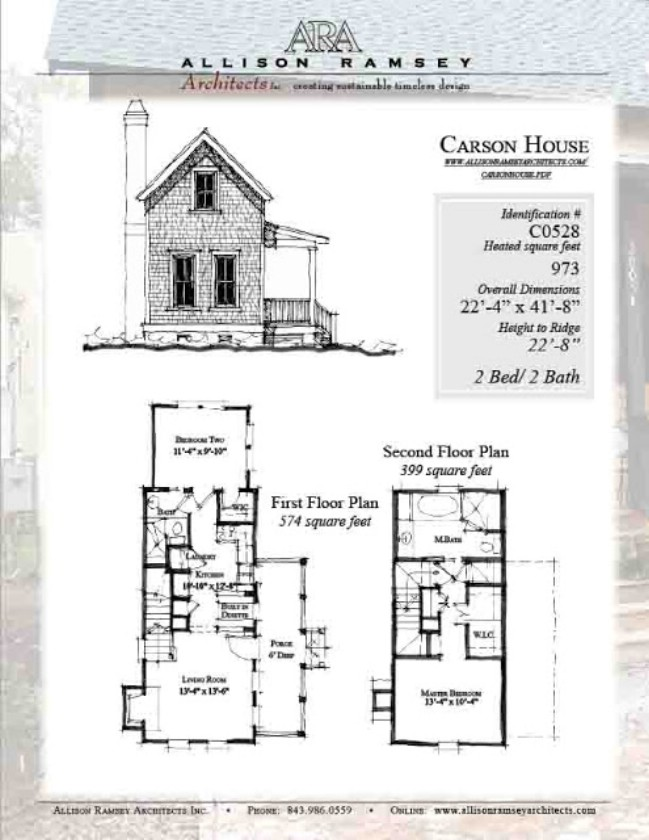 Purchase the plans for the 963 square foot camden house in for South carolina home plans