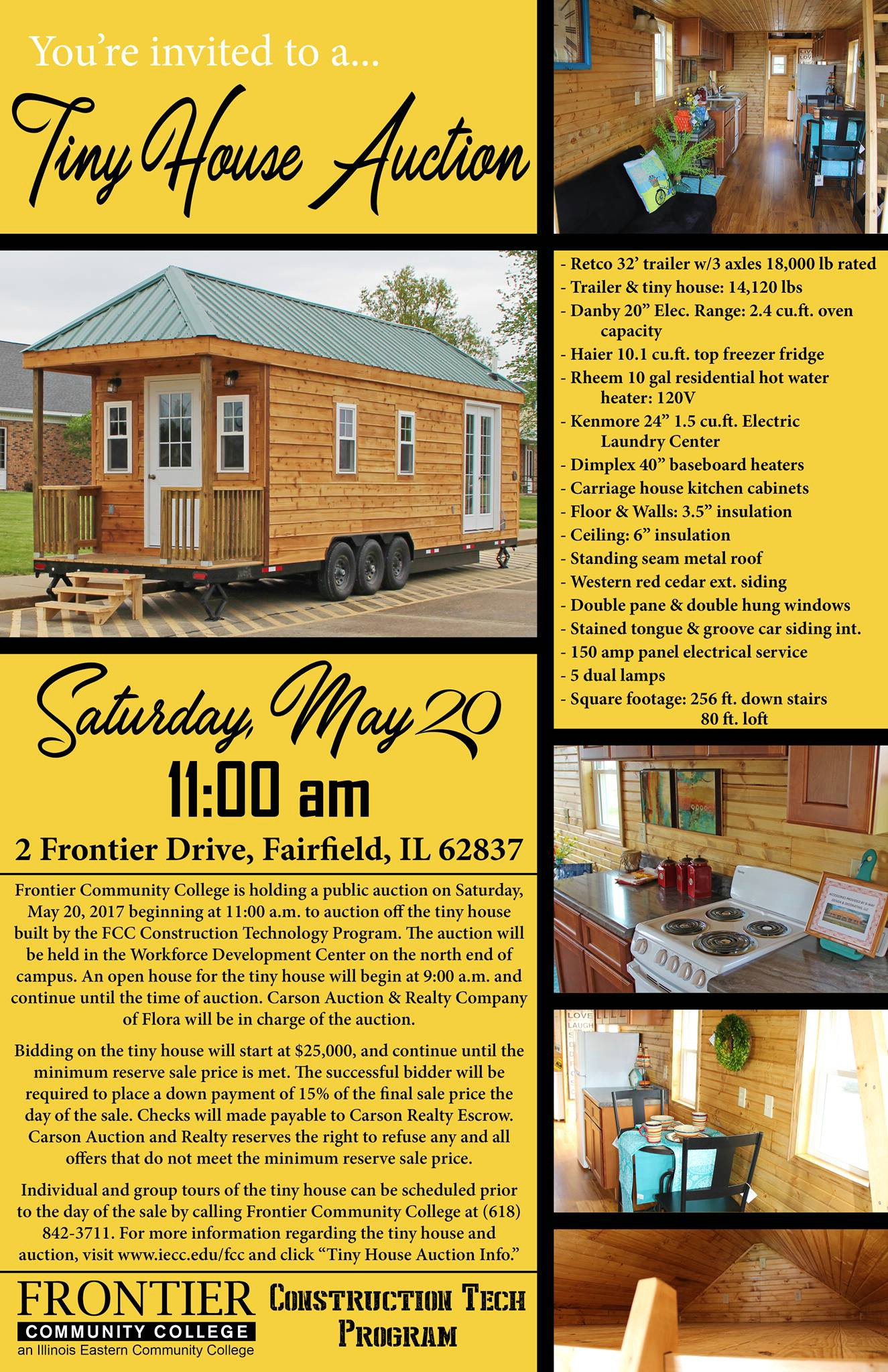 Frontier Community College Construction Technology Program Builds Tiny House in Southern Illinois