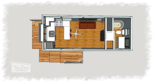 Open Concept Model Tiny House Tour