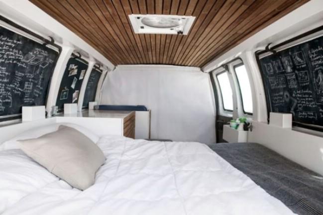 Young Filmmaker Converts Cargo Van into Tiny House