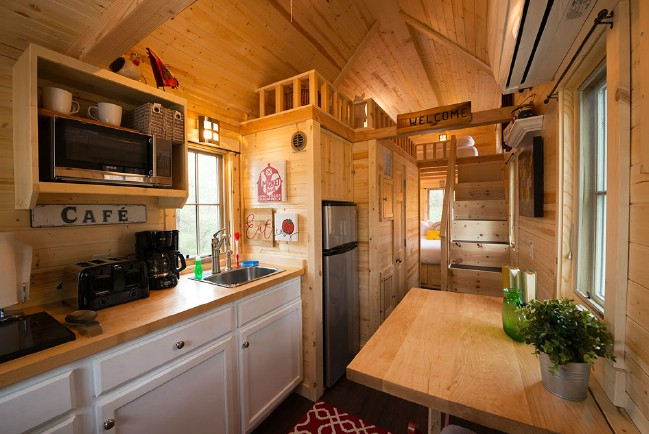 Stay in the Casa Rosa at Austin's Original Tiny Home Hotel in Texas