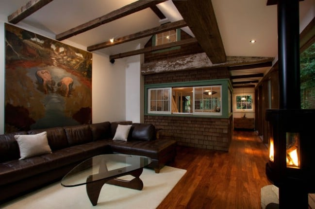 Rustic on the Outside Modern on the Inside Check out this 1920s
